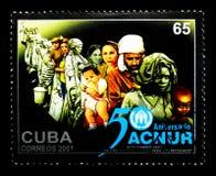 Acnur, 50th serie do aniversário, cerca de 2001 Imagens de Stock