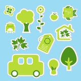 Aco 18. A collection of cute ecology icons Stock Photography