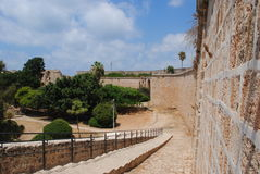 Aco old antic city walls Royalty Free Stock Photos
