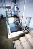 Acobarde a unidade da esterilização do leite da exploração agrícola Fotografia de Stock
