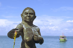 Acoger con satisfacción la estatua de los ogress de Phra Aphai Mani en el puerto principal Fotos de archivo