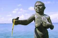 Acoger con satisfacción la estatua de los ogress de Phra Aphai Mani en el puerto principal Foto de archivo libre de regalías