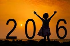 Acoja con satisfacción el Año Nuevo - 2016 imágenes de archivo libres de regalías