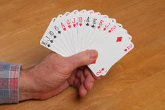 ACOL Contract Bridge Hand. 1NT Stock Images