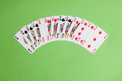 ACOL Contract Bridge Hand. Opening two clubs. Royalty Free Stock Photography