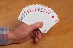ACOL-de Hand van de Contractbrug 1NT Stock Afbeeldingen