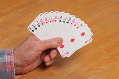 ACOL Kontraktacyjna Bridżowa ręka 2NT Zdjęcie Royalty Free