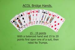 ACOL-Vertrags-Brücken-Hand Öffnen ein einer Klage Lizenzfreie Stockbilder