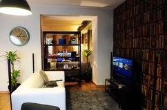 @The acolhedor Playce da sala de estar Foto de Stock Royalty Free