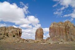 acoma形成岩石神圣的部落 免版税库存图片
