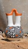 Acoma Pottery. This Handmade Pottery was made in the Pueblo of Acoma New Mexico Stock Image