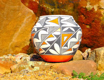 Acoma Pottery. This  Pottery is made in Acoma Pueblo Royalty Free Stock Photo