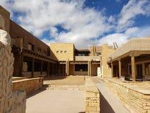 Acoma Pueblo cultural center stock images