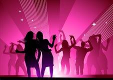 Acometida de medianoche de la danza Imagen de archivo libre de regalías