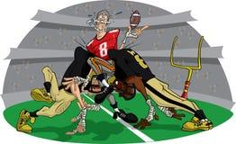 Acometida en el partido de fútbol americano #9 stock de ilustración