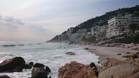 Acomodação do estilo de vida da praia de Oceano Atlântico Imagem de Stock