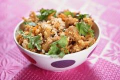 Acompañamiento poner crema de las habas de la soja, curry del masala de las habas de la soja de Paladai Foto de archivo