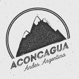 Aconcagua in Andes, Argentina outdoor adventure. Stock Image