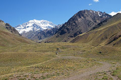 Aconcagua, Andes Mountains, Argentina Stock Photo
