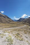 Aconcagua, in the Andes mountains in Mendoza, Argentina. Royalty Free Stock Image