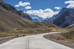 Aconcagua, in the Andes mountains in Mendoza, Argentina. Stock Photo