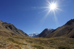 Aconcagua-Berg Stockbilder