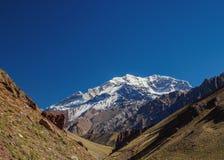 Aconcagua-Berg in Argentinien Lizenzfreies Stockfoto