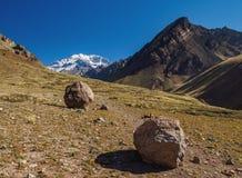 Aconcagua-Berg in Argentinien Stockbild