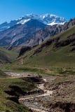 Aconcagua berg Sydamerika Argentina Arkivbild