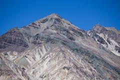 Aconcagua-Bergspitzen mit klarem blauem Himmel argentinien Lizenzfreies Stockfoto