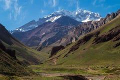 Aconcagua bergSydamerika Argentina mendoza Fotografering för Bildbyråer