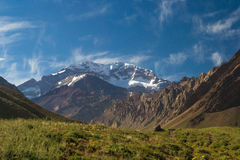 Aconcagua bergSydamerika Argentina mendoza Arkivbild