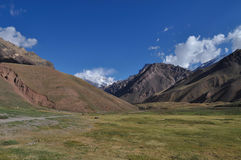 Aconcagua in the clouds Royalty Free Stock Image