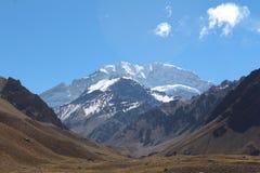 Aconcagua, Cordigliera de los le Ande Immagini Stock