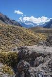 Aconcagua, in de bergen van de Andes in Mendoza, Argentinië Royalty-vrije Stock Foto