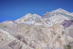 Aconcagua, in den Anden-Bergen in Mendoza, Argentinien. Lizenzfreie Stockfotografie