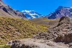 Aconcagua, die Anden um Mendoza, Argentinien Stockfotos