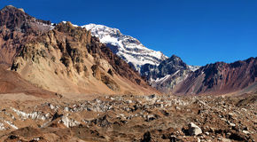 Aconcagua, the highest mountain in South America Royalty Free Stock Photography
