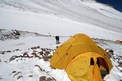 Aconcagua - Lager zwei Lizenzfreie Stockfotos