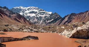 Aconcagua mountain panorama Royalty Free Stock Photos