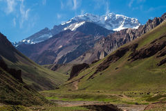 Aconcagua mountain south america argentina mendoza Stock Image
