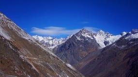 Aconcagua-Skiort, Argentinien Lizenzfreies Stockfoto