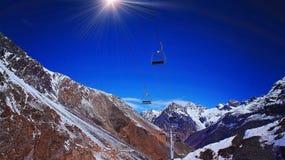 Aconcagua-Skiort, Argentinien Stockfoto