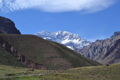 Aconcagua during summer Stock Photography