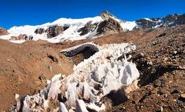 Aconcagua toppmöte i Argentina, South America Arkivbild
