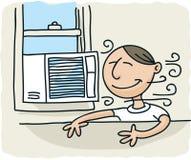 Acondicionador de aire de la ventana stock de ilustración