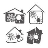 Acondicionador de aire en la casa Foto de archivo libre de regalías