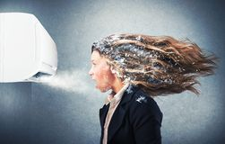 Acondicionador de aire potente fotos de archivo libres de regalías