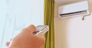 Acondicionador de aire que refresca energía fresca del ahorro del sistema almacen de metraje de vídeo