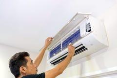 Acondicionador de aire servive fotografía de archivo